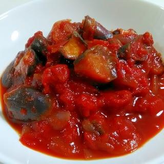 トマト缶で☆なすと玉ねぎのトマト煮
