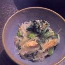 ツナと胡麻ドレで簡単おいしい★春菊と春雨のサラダ