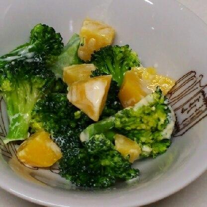 おいしかったです♪少食な子どもに、ブロッコリーもじゃがいもも食べてほしいので、うれしいマヨ和えでした♪