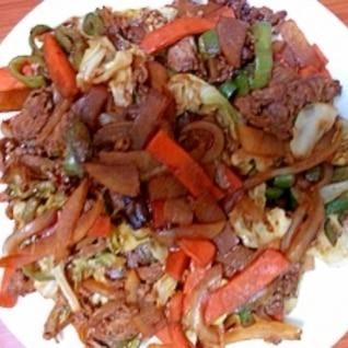 野菜と牛肉の中華炒め