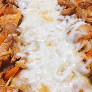 フライパンでチーズダッカルビ