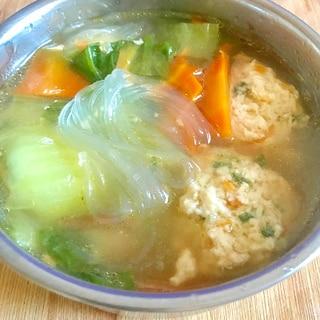 懐かしい給食の味♡鶏団子スープ