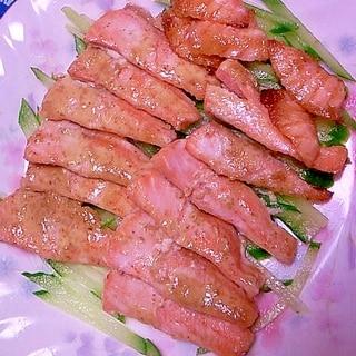 remake 刺身用サーモンのマヨしょうゆ焼き