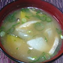 ♥ かぼちゃ&新玉&長芋の味噌汁 ♥