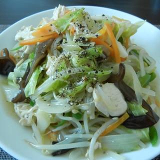 鶏むね肉の野菜たっぷり皿うどん