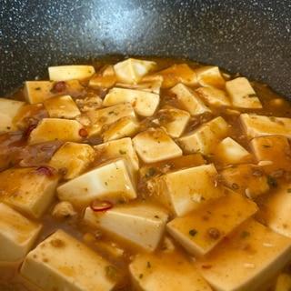 四川風麻婆豆腐!市販の素を簡単アレンジ!