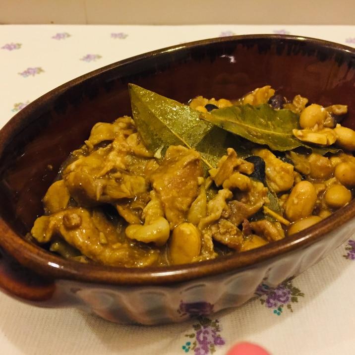 3種の豆のカレー風煮