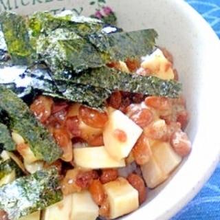 納豆の食べ方-梅&山芋♪