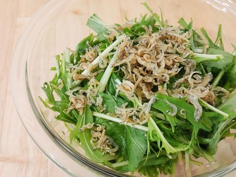カリカリじゃこと水菜のサラダ