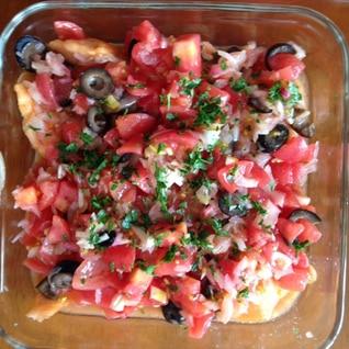 鮭のトマトマリネ
