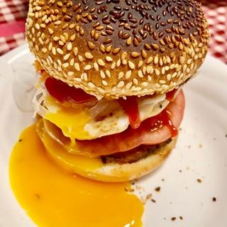 おうちでハンバーガー トマト 新玉ねぎ ひき肉