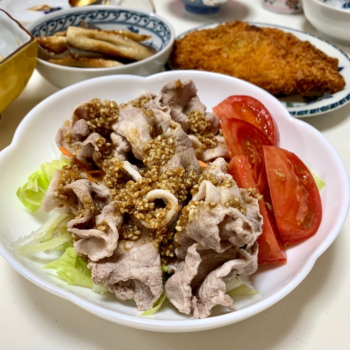 豚しゃぶサラダ❤️姜葱醤(ジャンツォンジャン)タレ