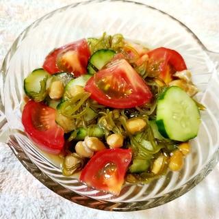 めかぶ納豆サラダ