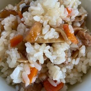 塩昆布とコーンの炊き込みご飯♪