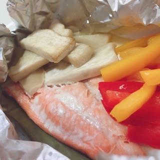 鮭のホイル焼き【低脂質・ビタミンC】