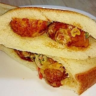 楽々☆食パンでたこ焼きサンドトースト