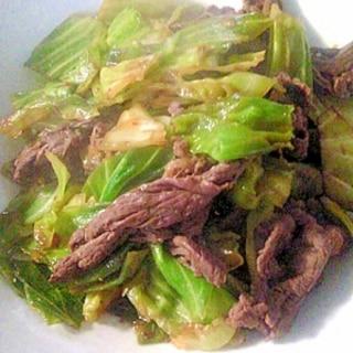 春キャベツと牛肉でつくる超カンタン回鍋肉