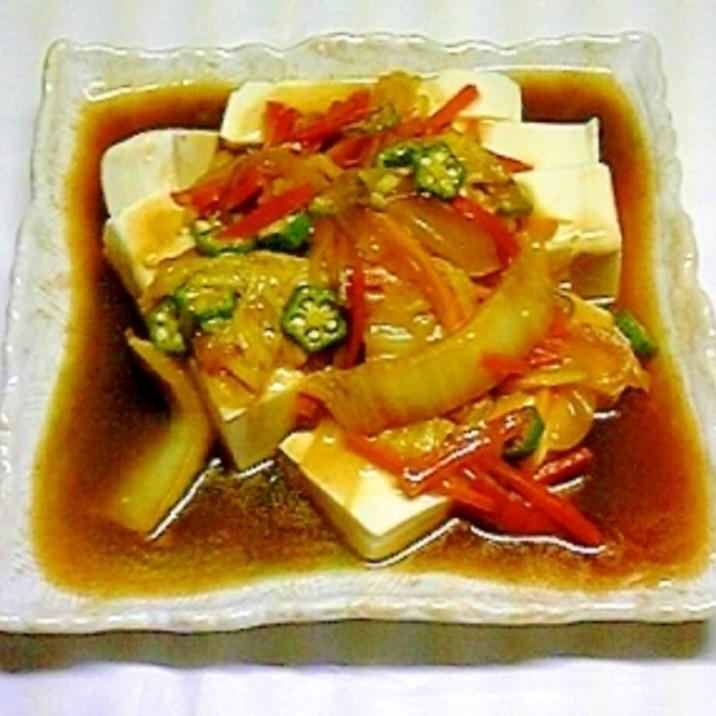 豆腐のカレーあんかけ