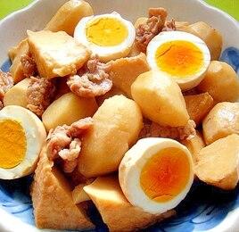 里芋と厚揚げゆで卵の煮物