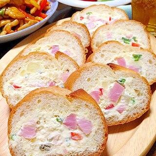 ポテサラ&クリチのスタッフドバゲットです☆幸せ味♪