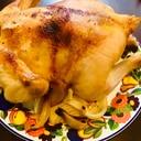 丸鶏で♪ローストチキン