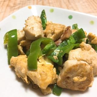 お豆腐とソーセージのチャンプルー