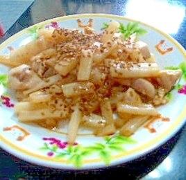 長芋と鶏肉のシャキシャキ炒め