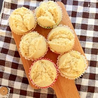 フライパンで簡単きな粉蒸しパン【離乳食】