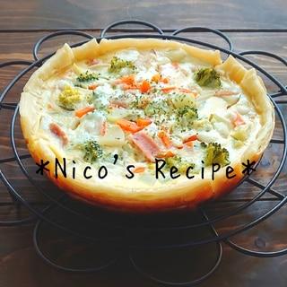 炊飯器と牛乳で簡単♪ブロッコリーのキッシュ
