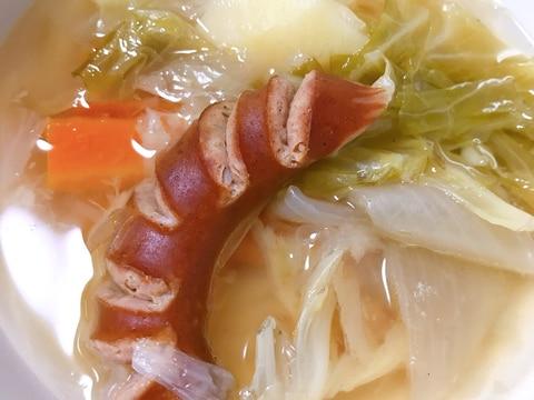 電気圧力鍋で野菜ごろっとポトフ