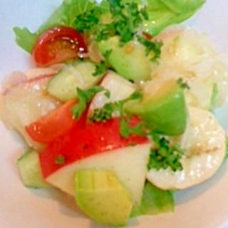 アボカドとフルーツのサラダ