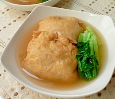 銀杏入り豆腐と挽き肉の袋煮