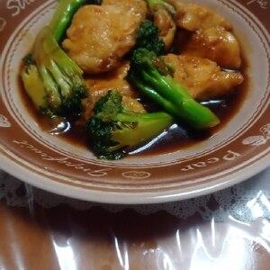 速攻晩御飯♪鶏肉とブロッコリーのオイスター炒め