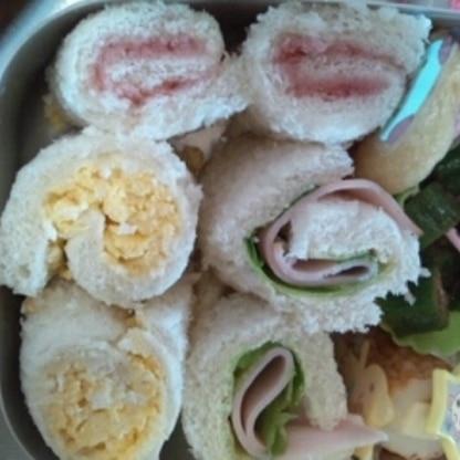 この春入園した娘の幼稚園弁当に。パン好きなので大喜びでした。ハムはレタスを入れたから?水分でゆるく…(汗) また作ります!