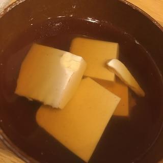 めんつゆで簡単!豆腐のすまし