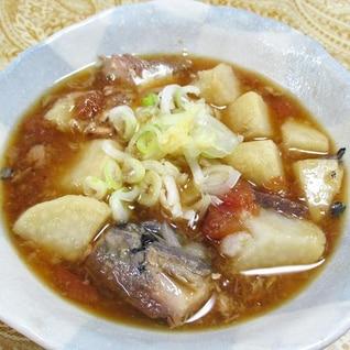 里芋鯖缶の梅煮