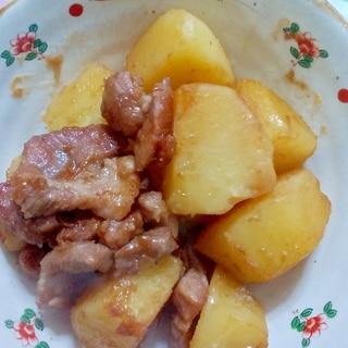 豚肉とジャガイモの煮転がし♪